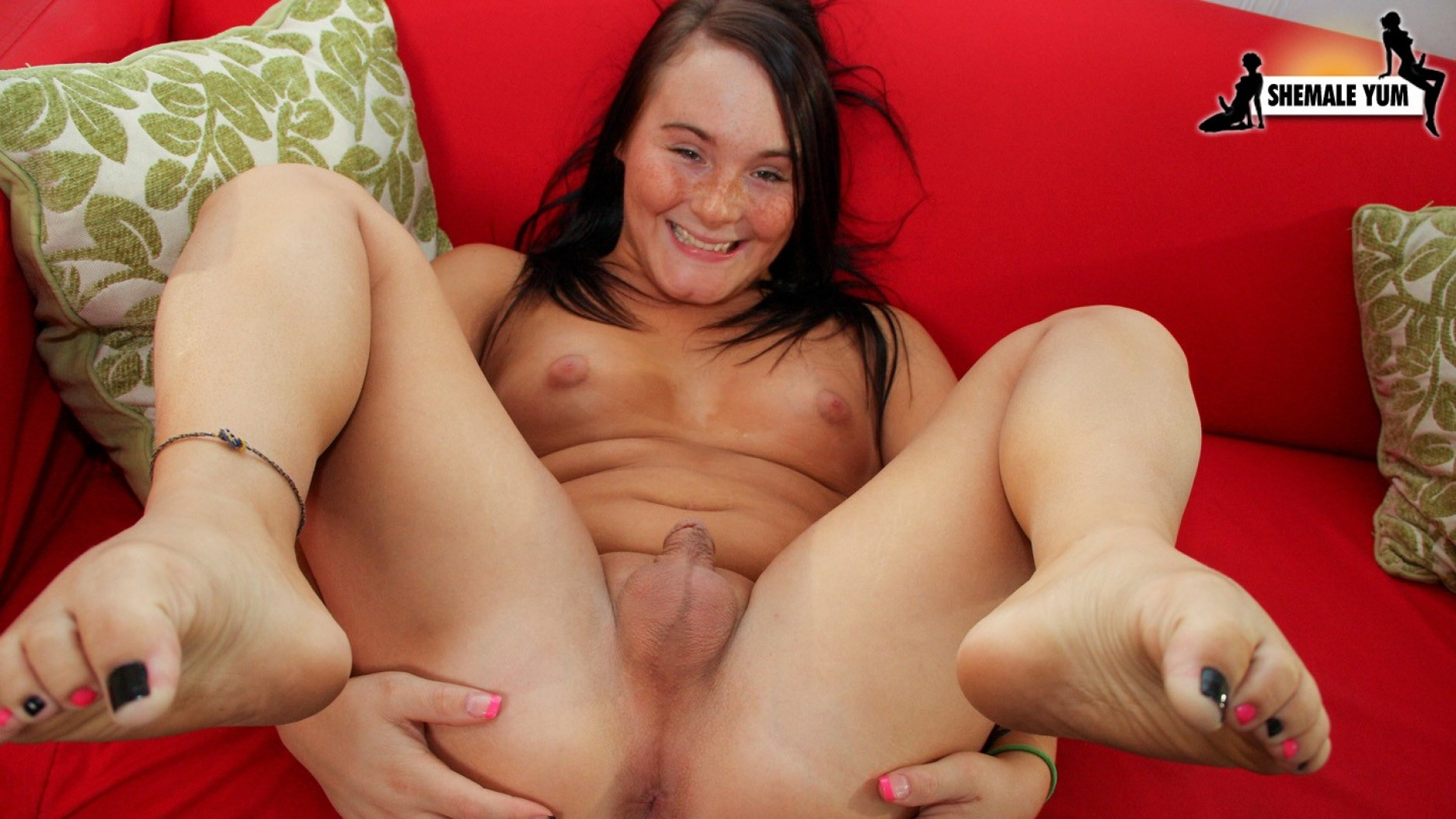 Horny shemales having fun