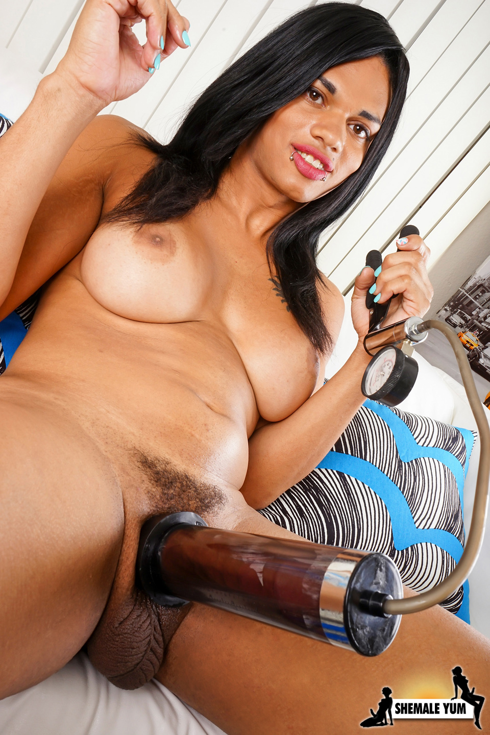 Shemale with penis pump